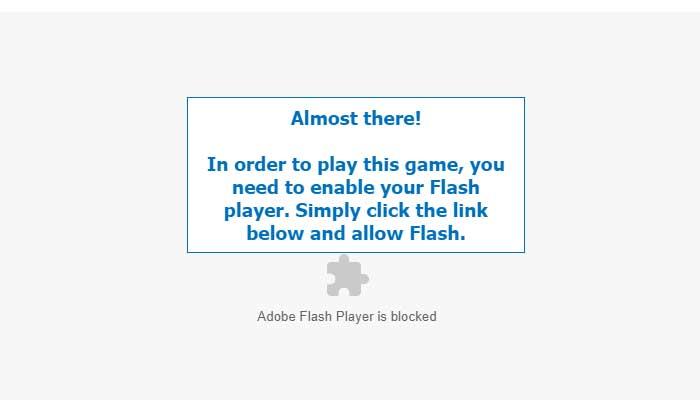 Cara Mengatasi Adobe Flash Player is Blocked